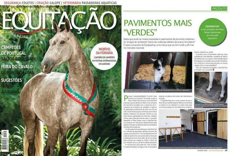 EquiPaviTop em destaque na Revista Equitação